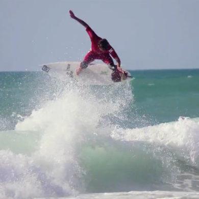 Vidéo de surf en été en France