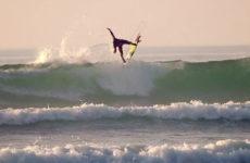 Vidéo de surf en France l'hiver